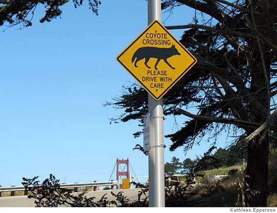 Credit: Kathleen Epperson  Caption: Sign near the Golden Gate Bridge Photo: Kathleen Epperson