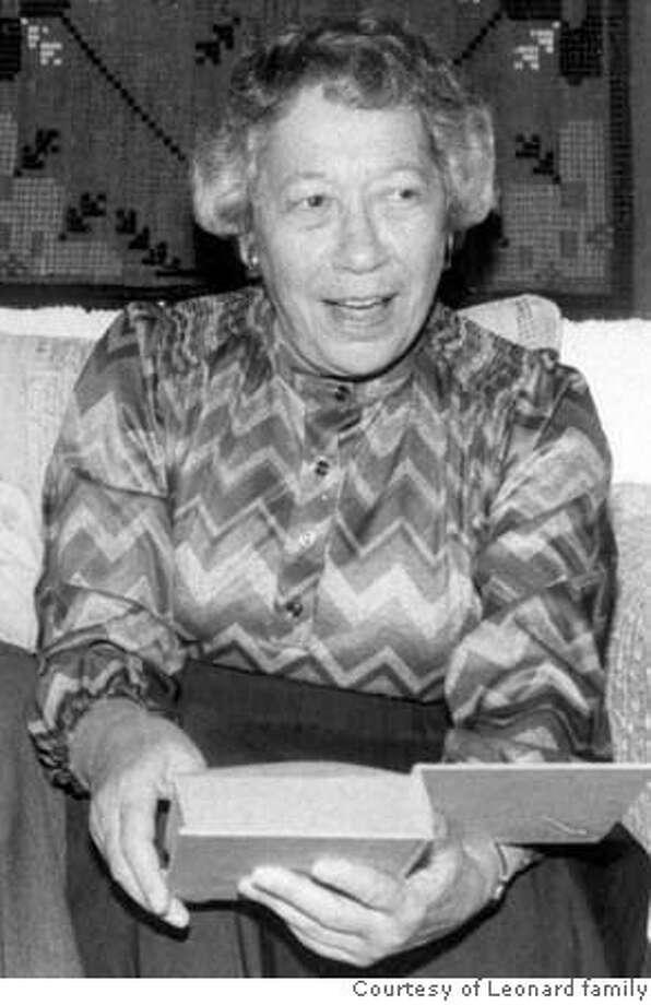 OBIT photo of Marjorie Leonard.  Photo Courtesy Leonard family. Photo: Handout