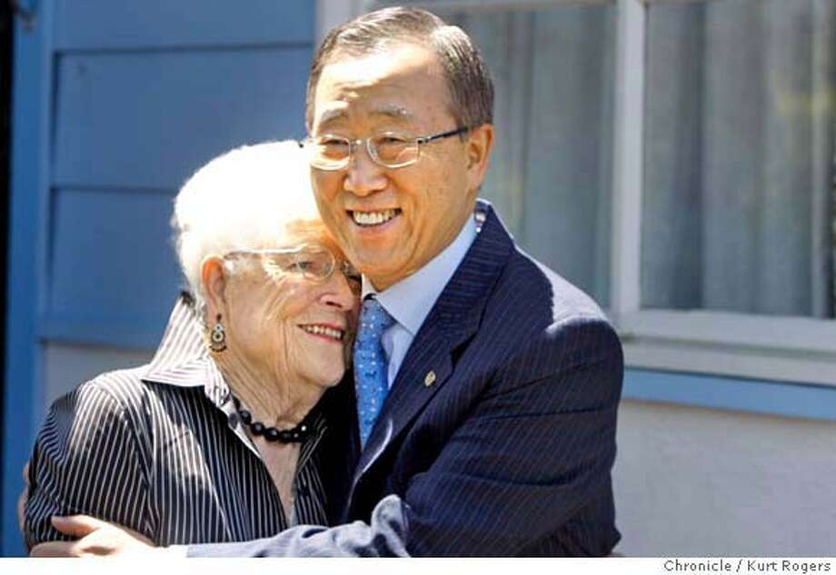 The U.N. Secretary-General Ban Ki-moon arrived in San Francisco . His first stop to the home of is Lib Patterson's in Novato . where he stayed as a high school student in 1962. WEDNESDAY, JULY 25, 2007 KURT ROGERS NOVATO SFC  THE CHRONICLE Photo: KURT ROGERS
