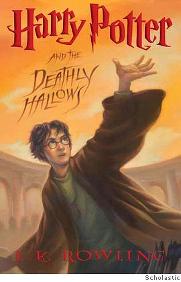 """� ** FILE ** This image supplied by Scholastic shows the cover of the U.S. edition of the highly anticipated """"Harry Potter and the Deathly Hallows. Harry Potter charmed millions of readers this weekend, but the spell was broken at least briefly for some fans when they found pages missing from their precious copies of """"Harry Potter and the Deathly Hallows."""" (AP Photo/Scholastic, HO) NO SALES,SUPPLIED BY SCHOLASTIC Photo: Anonymous"""