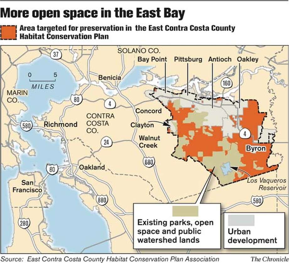 More open space in the East Bay. Chronicle Graphic