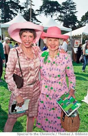 "In this Chronicle ""Swells"" photo published on Nov. 7, 2004, (l to R )Beatrice Bowles with her mom, Constance Peabody at the Garden Feast in the Botanical Gardens. Constance Peabody is known as Constance Bowles in the Chronicle 7-26-07 FARMBILL story. Photo by Tom Gibbons/Special to the Chronicle. Ran on: 11-07-2004 Ran on: 11-07-2004 Photo: Thomas J. Gibbons"
