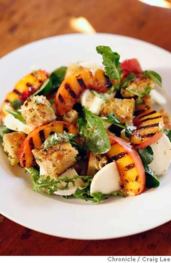 SEASONAL25_130_cl.JPG  Jeremy Fox, chef who will be opening a new restaurant in Napa called Ubuntu. Close-up photo of his Grilled Peach Panzanella. Event on 7/17/07 in Napa. photo by Craig Lee / The Chronicle MANDATORY CREDIT FOR PHOTOG AND SF CHRONICLE/NO SALES-MAGS OUT Photo: Photo By Craig Lee