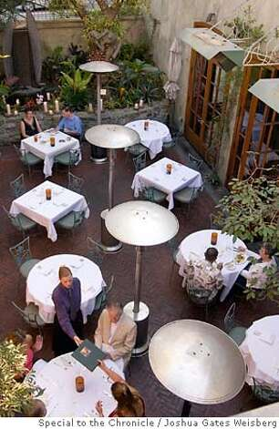 43298 - LA_RESTAURANTS25 - Garden dining at Wolfgang Puck's Spago in Beverly Hills, California on July 13, 2007. By JOSHUA GATES WEISBERG/SPECIAL TO THE CHRONICLE Photo: JOSHUA GATES WEISBERG