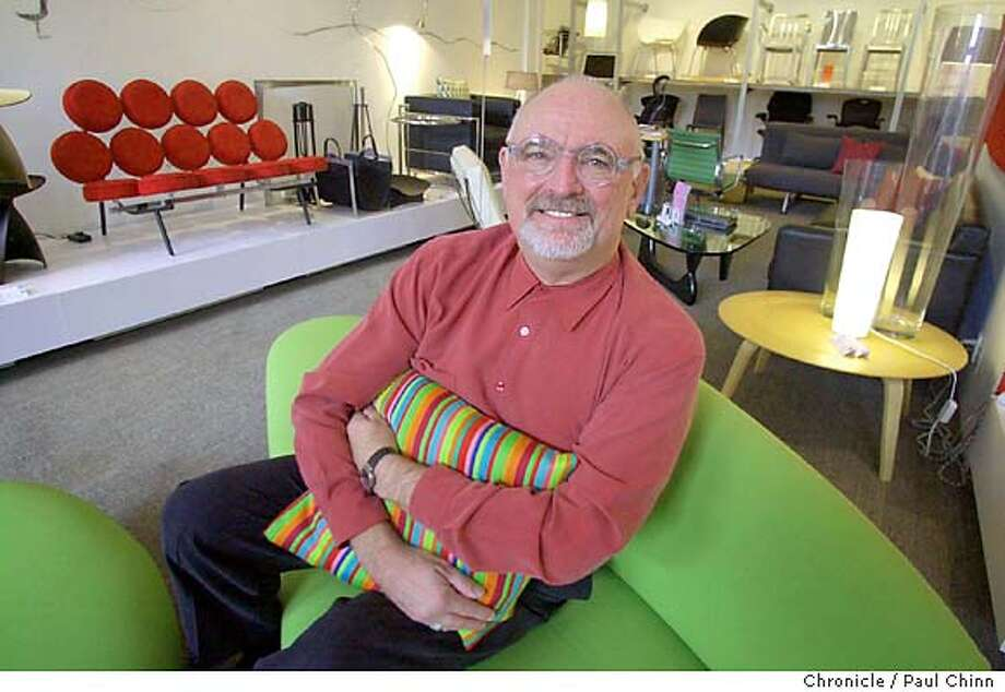 design01060_pc.jpg CEO Wayne relaxes on a couch in the showroom of DWR's Jackson St. studio. Design Within Reach furniture studio in San Francisco on 10/31/03. PAUL CHINN / The Chronicle Photo: PAUL CHINN