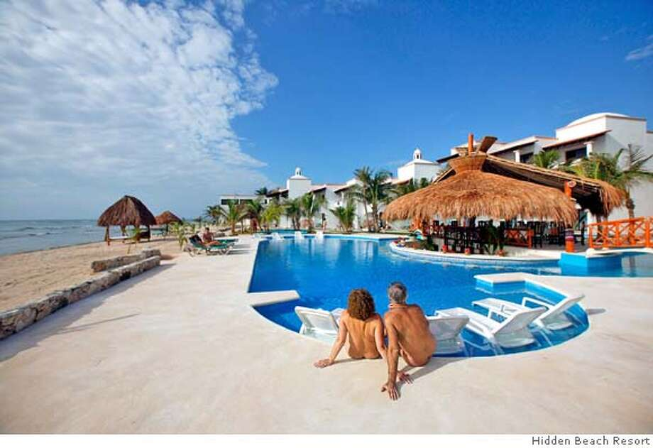 Travel Mexico The Pool Area Of Hidden Beach Resort Au Naturel Club On