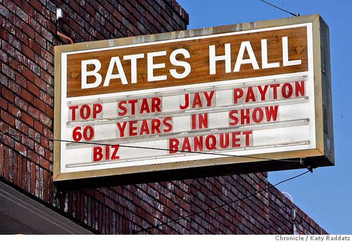 PAYTON24_068_RAD.jpg SHOWN: Jay Payton, 81, Godfather of Bay Area R&B, celebrates 60 years in showbiz at Bates Hall in Oakland, CA. (Katy Raddatz/The Chronicle) **Jay Payton Mandatory credit for the photographer and the San Francisco Chronicle. No sales; mags out.