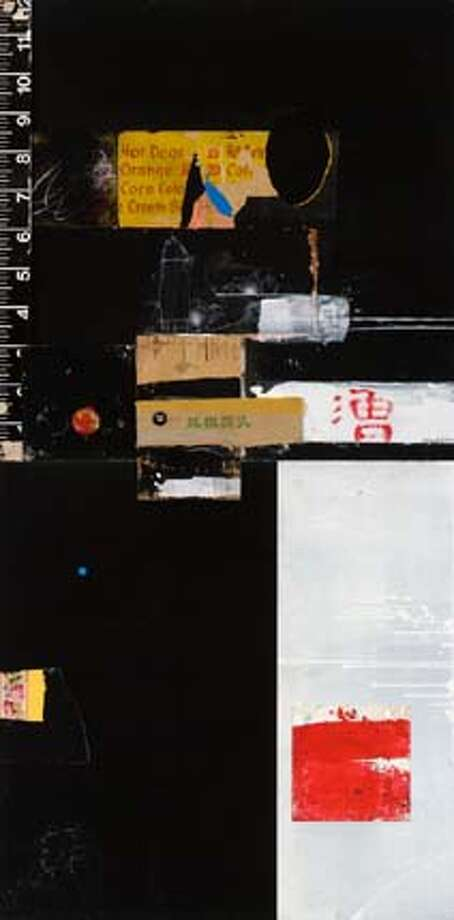 GALS01.  Artist:� Raymond Saunders�  Title:� Menu, 2003  Medium: mixed media on board  Dimension: 96 x 48 inches Photo: HO