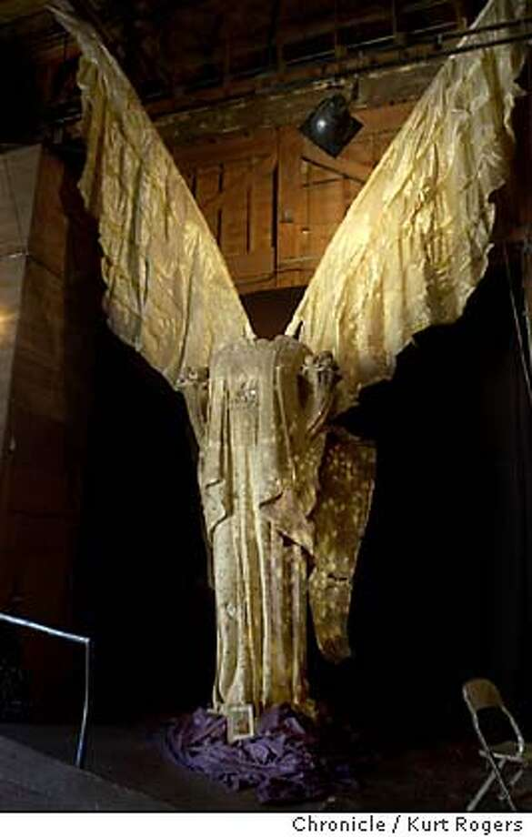 the entrance is an angel using a sculpture from the 1915 worlds fair.  Bay area artists are observing this ancient Mexican holiday in both somber and celebratory ways . Event on 10/29/03 in San Francisco. KURT ROGERS / The Chronicle Photo: KURT ROGERS