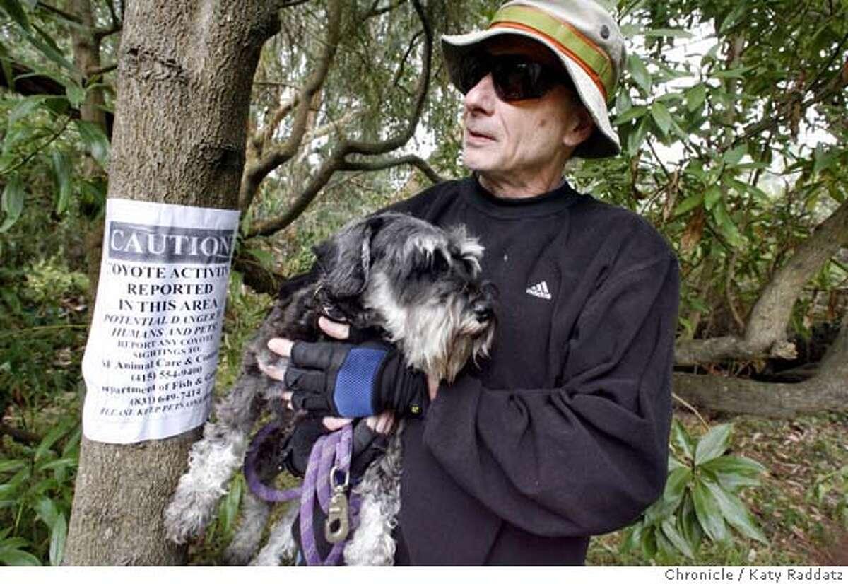 {filename SHOWN: Gene Simone of San Francisco with his schnauzer
