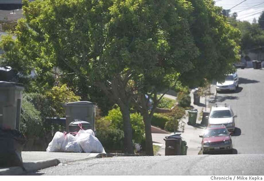 garbagewatch2100000052.JPG Dorris Moore, 62, full time care giver for an elderly patient on Burlington Street in Oakland near Lincoln Avenue, said the trash hasn't been picked up on that street since June 28. 7/20/07. Mike Kepka / The Chronicle Dorris Moore (cq) MANDATORY CREDIT FOR PHOTOG AND SF CHRONICLE/NO SALES-MAGS OUT Photo: Mike Kepka