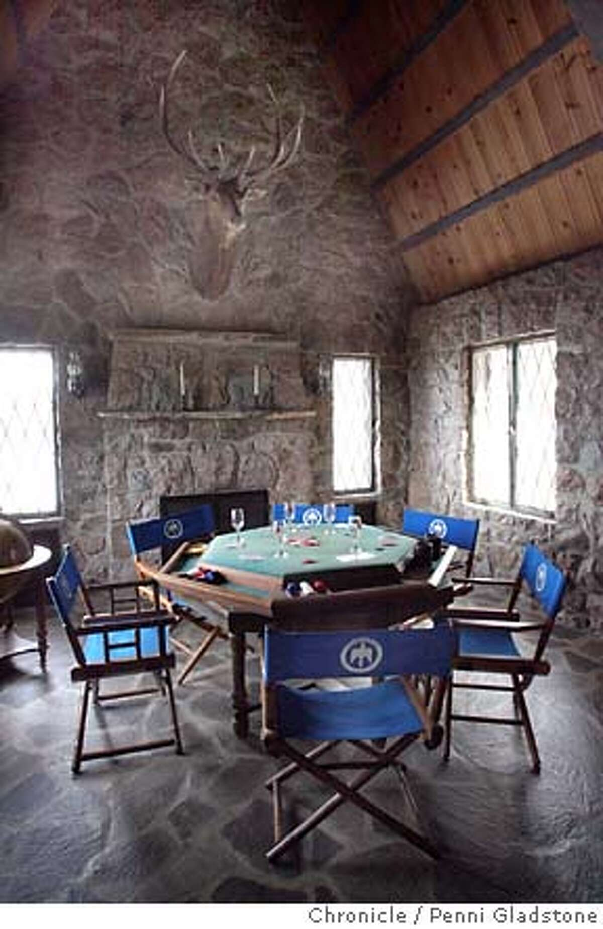 THUNDERBIRDLODGE033_PG.JPG this is the poker room Perched on a cliff, the Thunderbird Lodge commands a spectacular view of Lake Tahoe. Event on 3/30/07 in Lake Tahoe. penni gladstone / The Chronicle MANDATORY CREDIT FOR PHOTOG AND SF CHRONICLE/NO SALES-MAGS OUT