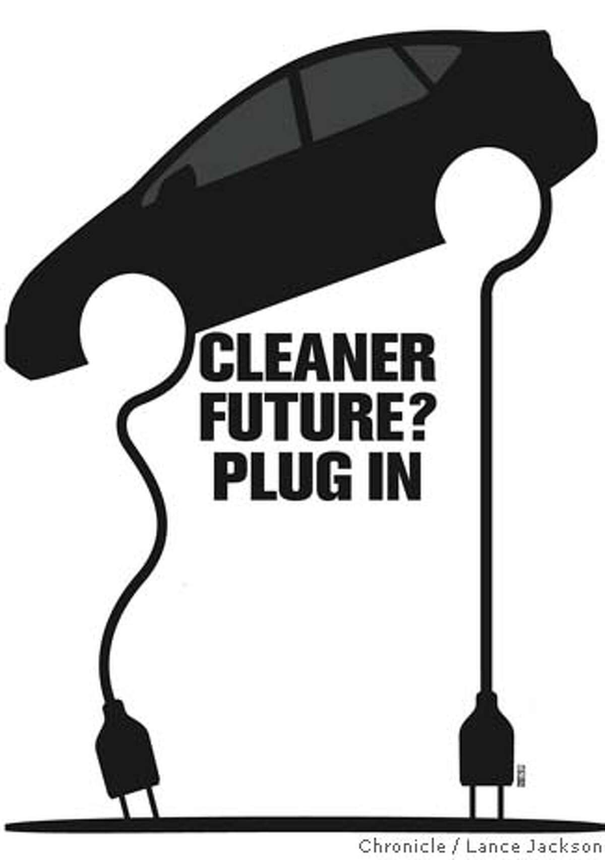 Cleaner Future? Plug In. Chronicle graphic by Lance Jackson