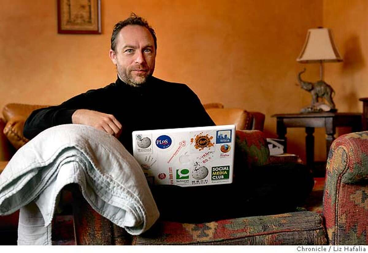 .JPG Jimmy Wales, founder of Wikipedia, the online encyclopedia edited by people power. Liz Hafalia/The Chronicle/San Francisco/7/11/07 **Jimmy Wales cq �2007, San Francisco Chronicle/ Liz Hafalia MANDATORY CREDIT FOR PHOTOG AND SAN FRANCISCO CHRONICLE. NO SALES- MAGS OUT.