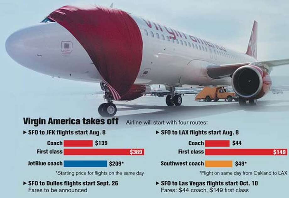 Where new airline will fly. Chronicle photo by Katy Raddatz, graphic by the Chronicle