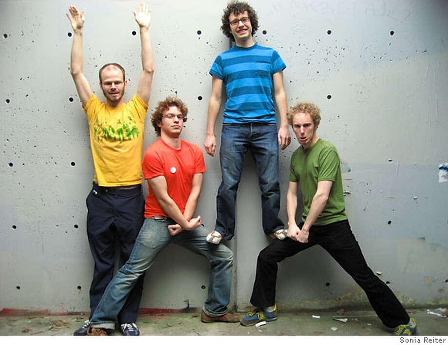 Photo: (left to right)  Rob Schwartz, Mark Allen-Piccolo, Ben Urwand, Michael Coleman  Photo taken by Sonia Reiter Photo: Sonia Reiter