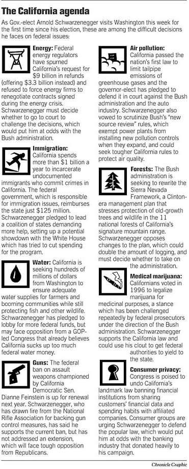 The California Agenda. Chronicle Graphic