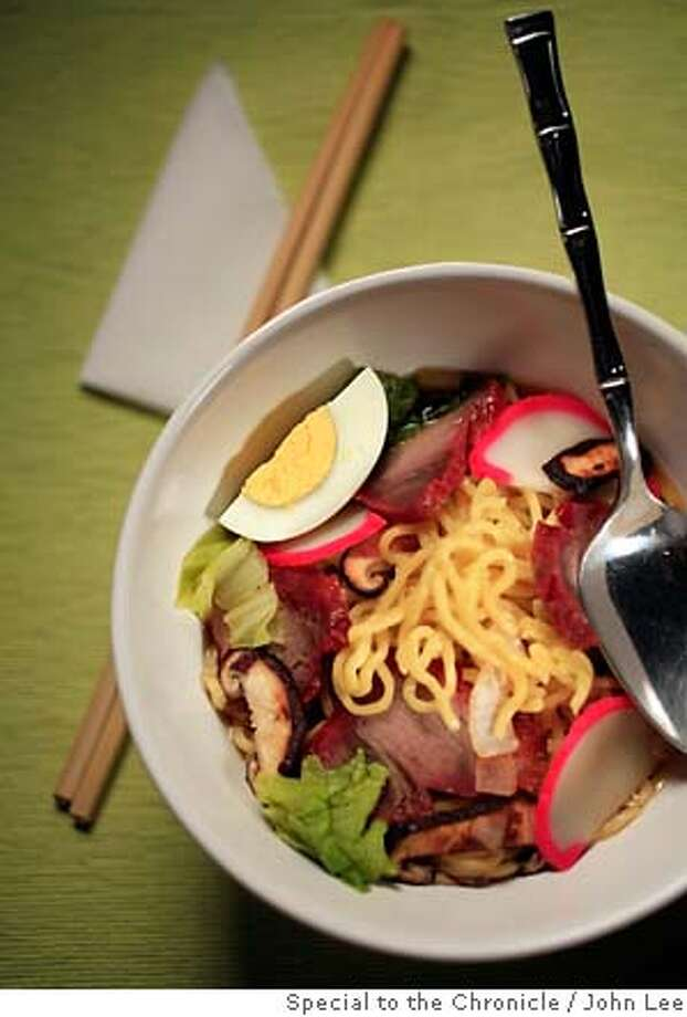 WORKING18_JOHNLEE.JPG  Saimin noodle soup.  By JOHN LEE/SPECIAL TO THE CHRONICLE Photo: John Lee