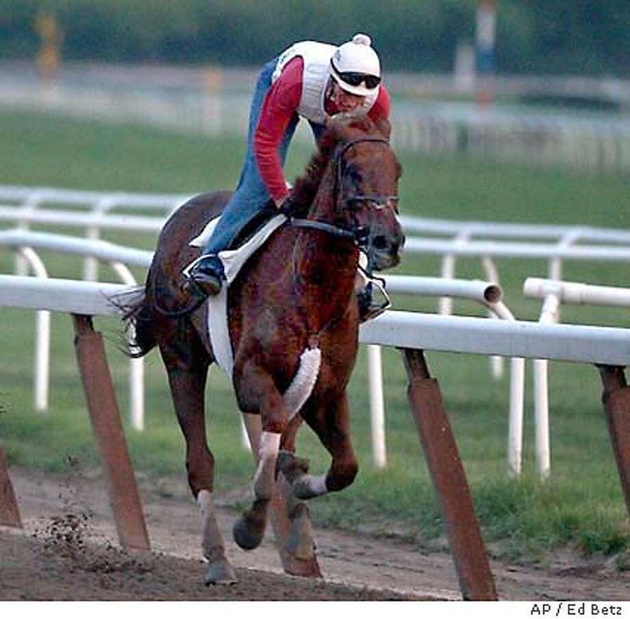 funny cide_6/4/2003_B/W_3star_Sports_c6_22p8 x 4''_ls 8423 Photo: ED BETZ