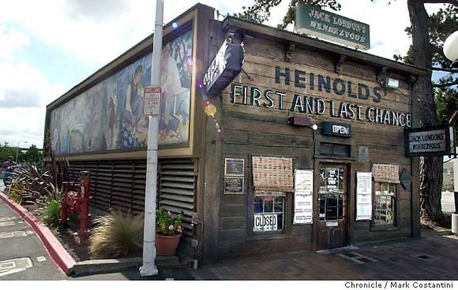 {071903_gagnon09_mc} The bathroom at Heinhold's Last Chance Saloon has apparently been out of order for several months. This is the exterior as the saloon. {07/19/03} in {San Francisco}. {PHOTO: MARK COSTANTINI} / {CHRONICLE}  ALSO RAN 9/25/2003 note: name in caption is misspelled, should be Heinold's Photo: MARK COSTANTINI