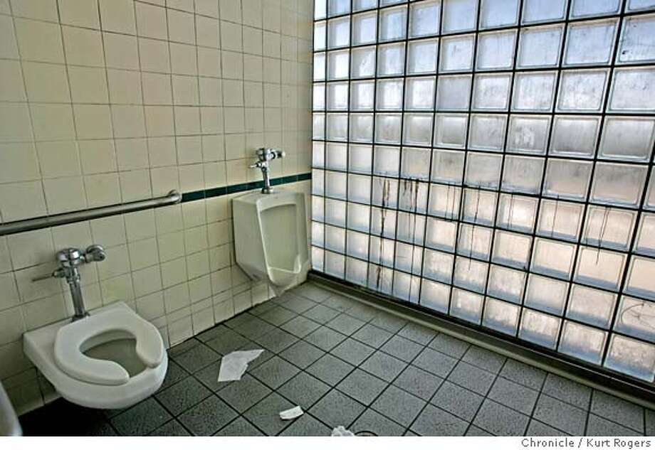 The mens bathroom at the Pittsburg_Baypoint station.  The condition of BART bathrooms .  TUESDAY, JUNE 26, 2007 KURT ROGERS PITTSBURG_BAYPOINT SFC  THE CHRONICLE BART_BATHROOMS_0011_kr.jpg MANDATORY CREDIT FOR PHOTOG AND SF CHRONICLE / NO SALES-MAGS OUT Photo: KURT ROGERS