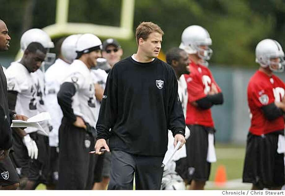 RAIDERS_0046_cs.jpg Event on 5/4/07 in Alameda.  Oakland Raiders head coach Lane Kiffin during a mini-camp at their Alameda headquarters. Chris Stewart / San Francisco Chronicle Photo: Chris Stewart