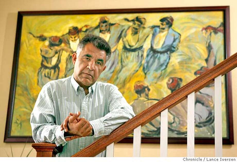 � IRANPROFILES_35887.JPG Saeid Pourabdollah who loves art and has dozens of originals throughout his home is a human rights activist living in San Jose. While a teenager Saeid was imprisoned for two and a half years in Iran and tortured for the first three months. He now plays an active roll in promoting human rights. (JUNE 1) (cq) SUBJECT) Lance Iversen / The Chronicle Photo taken on 6/1/07,in SAN JOSE, CA. MANDATORY CREDIT PHOTOG AND SAN FRANCISCO CHRONICLE/NO SALES MAGS OUT Photo: By Lance Iversen