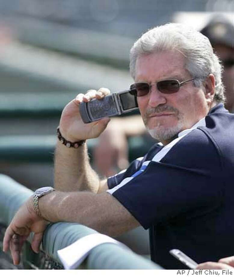 ** FILE **San Francisco Giants general manager Brian Sabean is seen in this file photo from a spring training baseball game in Scottsdale, Ariz., March 26, 2007. Sabean agreed Friday, July 13, 2007, to a two-year contract extension with the Giants that includes a club option for the 2010 season. (AP Photo/Jeff Chiu) Photo: Jeff Chiu