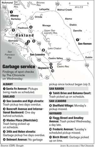Garbage Service. Chronicle graphic by John Blanchard