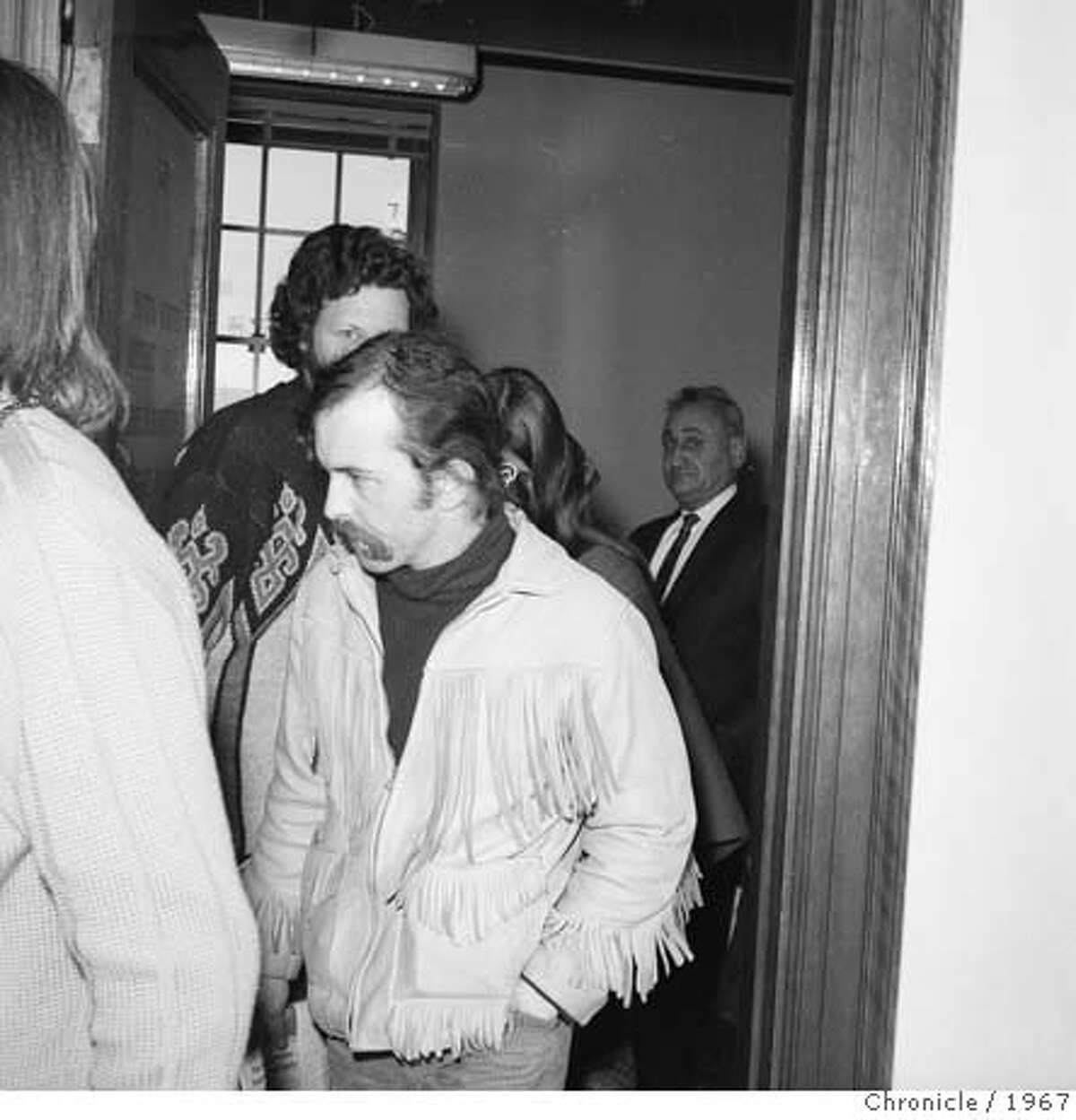 Stanley Owsley, during his LSD arraignment December 23, 1967. Chronicle Photo Ran on: 07-12-2007 Owsley Stanley appears at a drug arraignment. Ran on: 07-12-2007 Owsley Stanley appears at 67 drug arraignment.