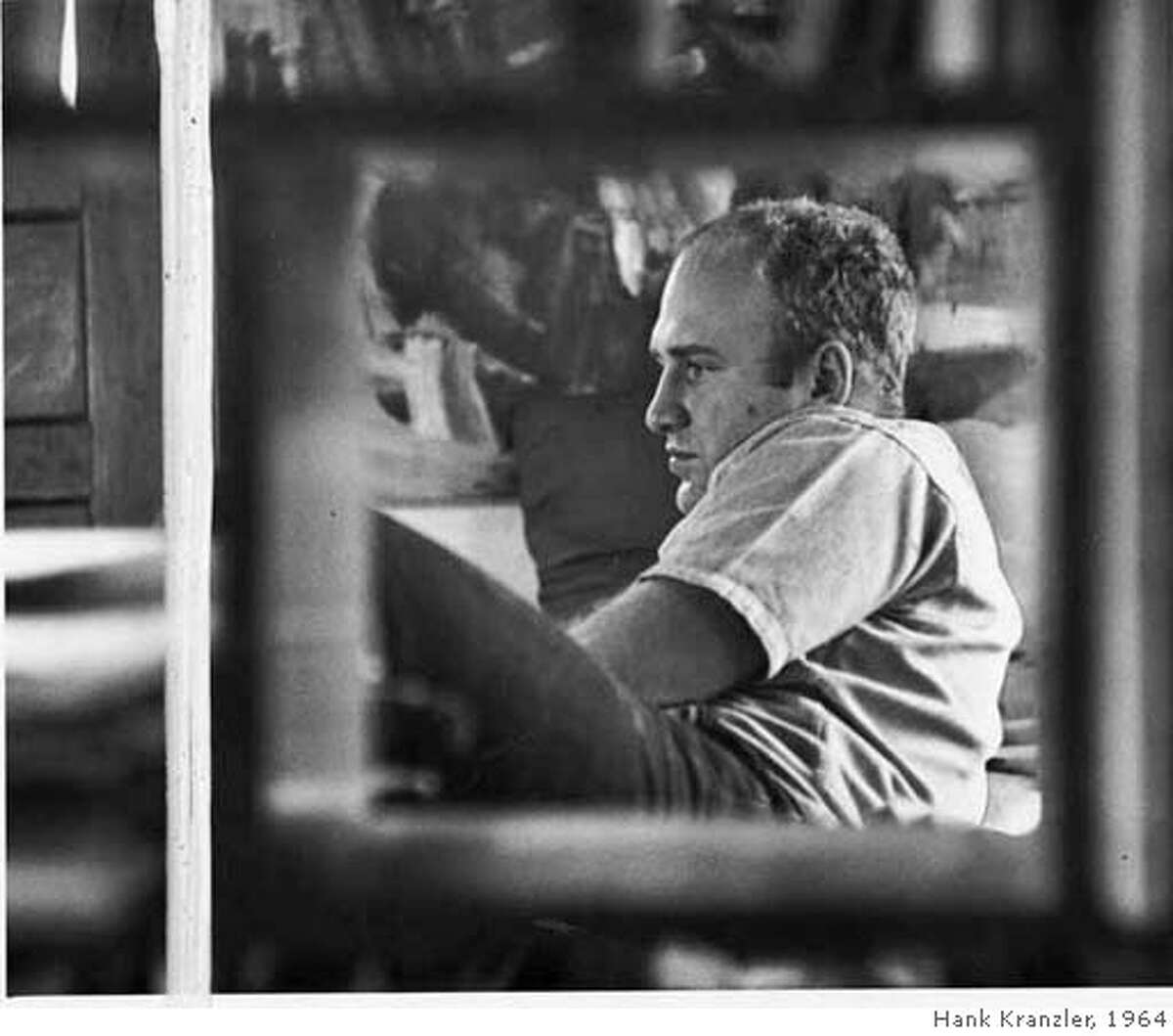 Ken Kesey, 1964, no other information given. Photo Hank Kranzler