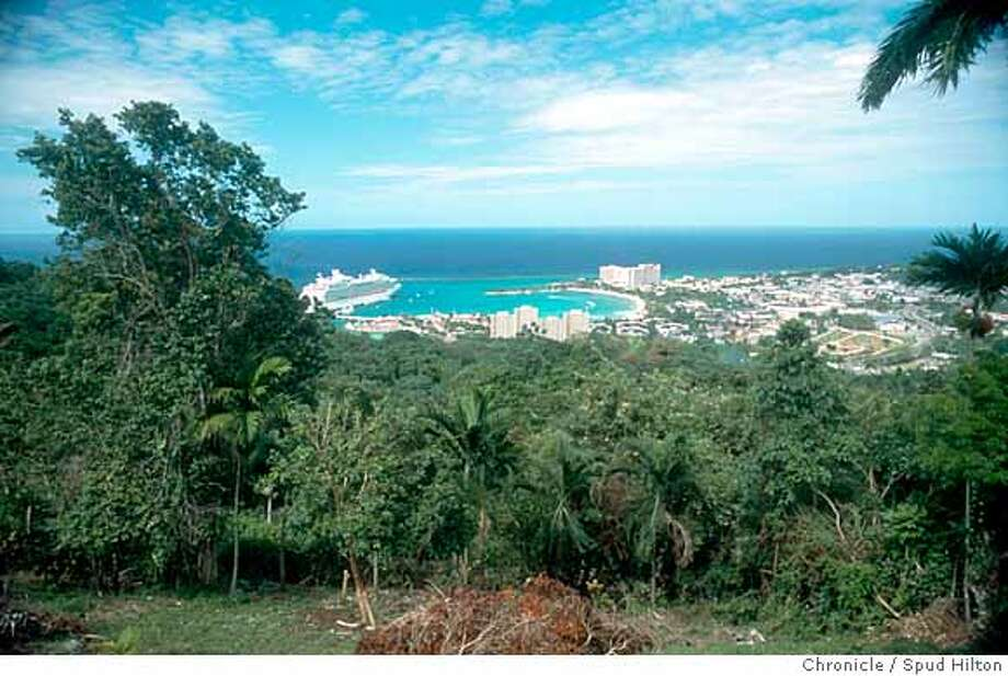 Ocho Rios, Jamaica, is the departure point for excursions to the Walkerswood Caribbean Foods. Chronicle photo, 2004, by Spud Hilton