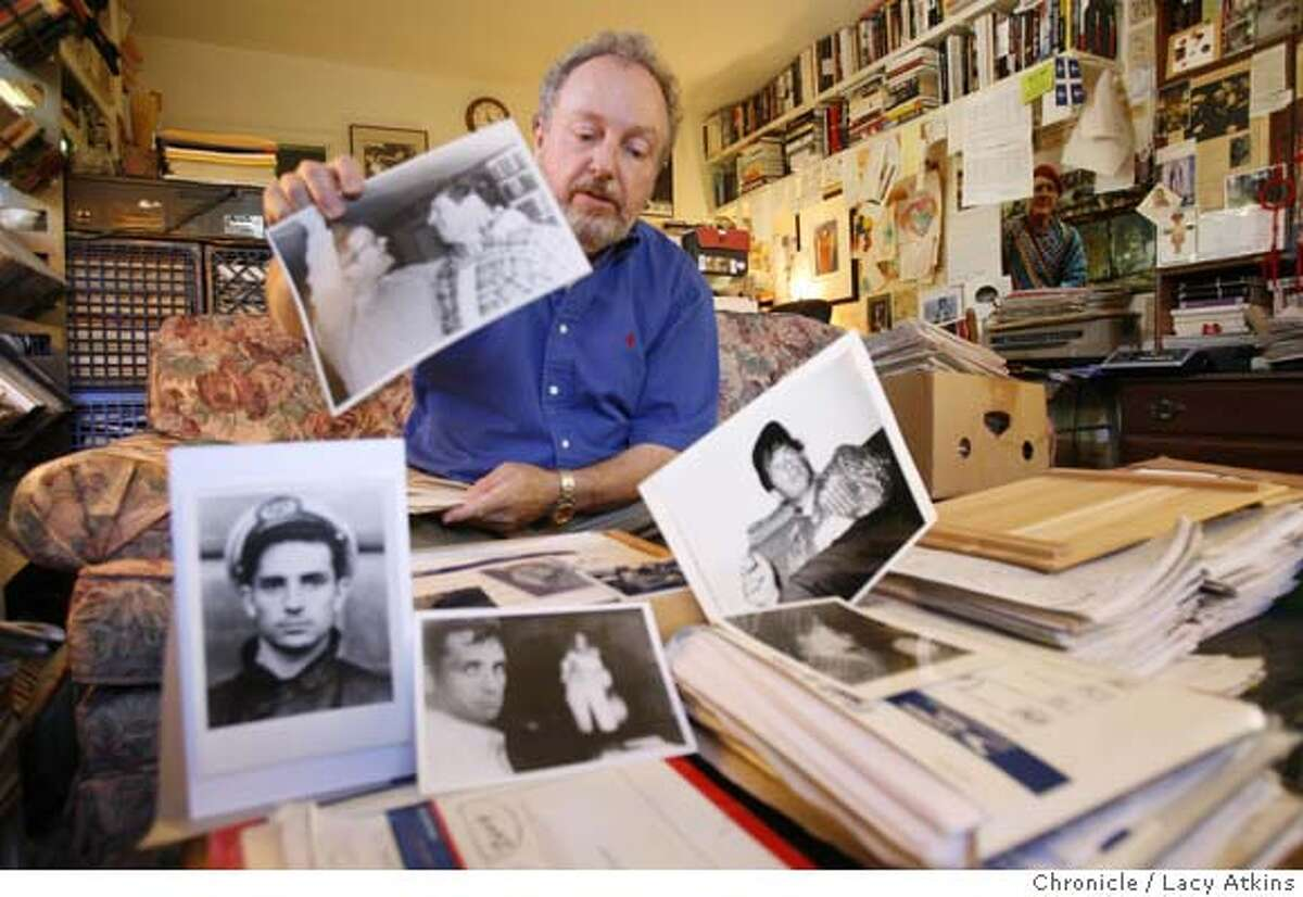 Geroald Nicosia an author who wrote about Jack Kerouac in his office in Corte Madera, Ca.Thursday July 5, 2007. (Lacy Atkins /San Francisco Chronicle) GERALD NICOSIA, who wrote an important 1983 biography of Jack Kerouac. He is charging VIKING PENGUIN and the KEROUAC ESTATE with pressuring authors to keep Nicosia's name out of all books on Kerouac or the Beats.n his office in Corte Madera, Ca.Thursday July 5, 2007. (Lacy Atkins /San Francisco Chronicle) MANDATORY CREDITFOR PHOTGRAPHER AND SAN FRANCISCO CHRONICLE/NO SALES-MAGS OUT