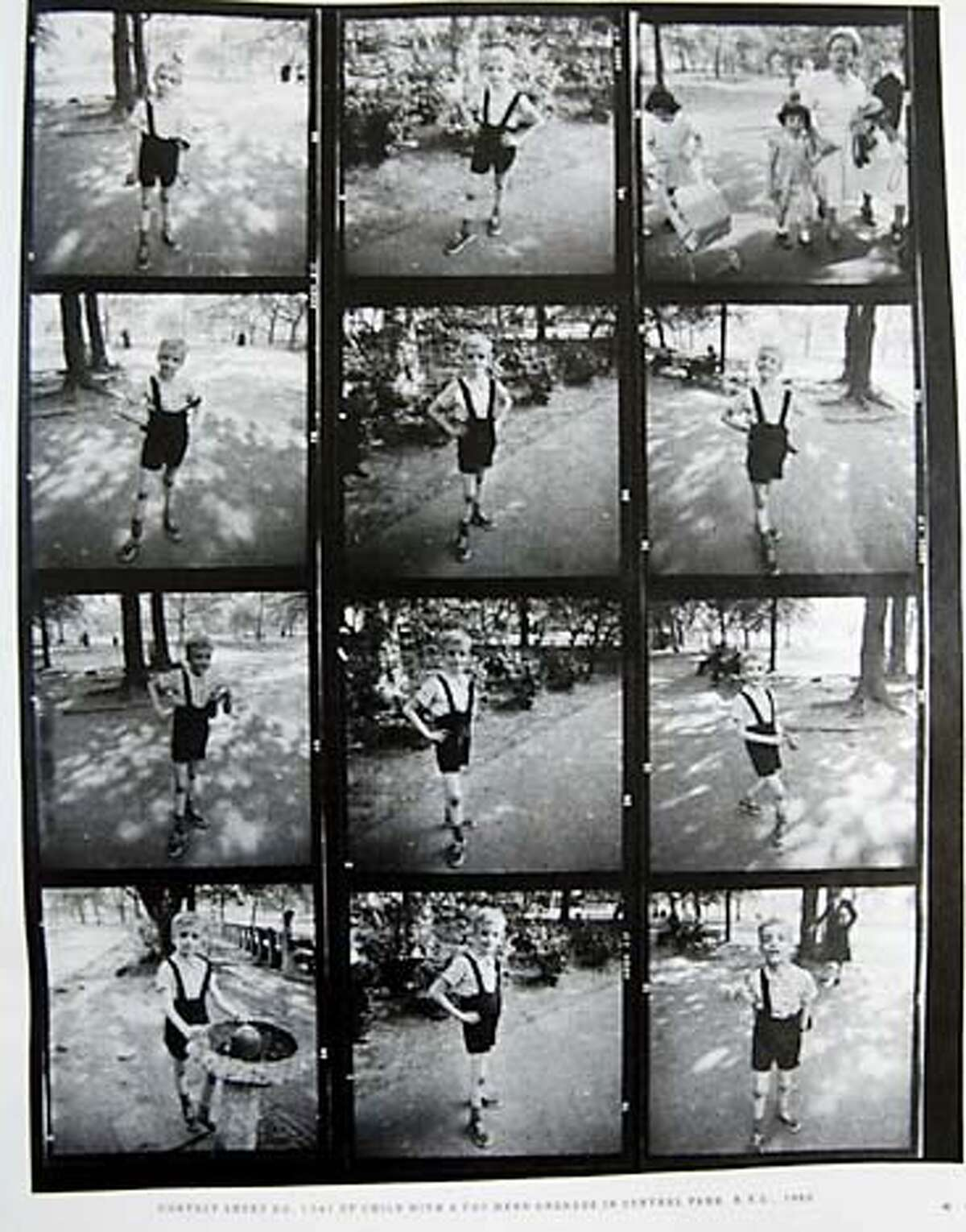 arbus0118_cs.jpg Event on 10/6/03 in . A contact sheet of images published in the New York Times Sunday Magazine features Colin Wood. Forty years ago, Wood was the subject of these photos taken by Diane Arbus. He was known as the child with a toy hand grenade in Central Park, N.Y.C., 1962. SFMOMA is having a Diane Arbus retrospective. / The Chronicle