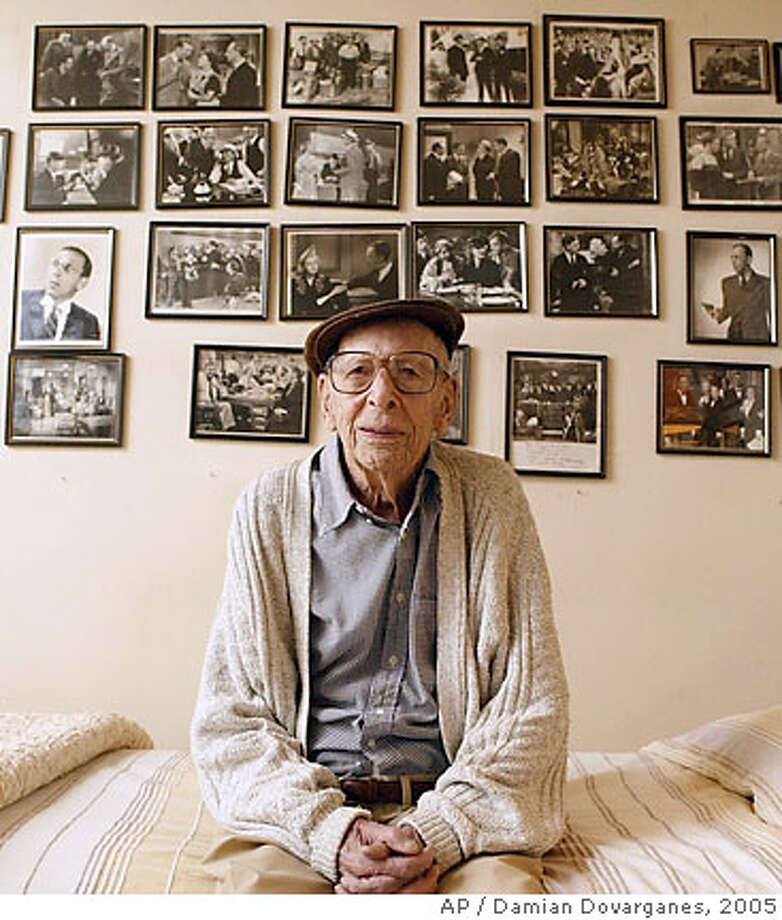 ** FILE ** Character actor Charles Lane poses for a photograph at his home in the Brentwood area of Los Angeles, in this Jan. 19, 2005, file photo. Lane, whose career spanned more than 60 years, died at his home Monday night, July, 9, 2007. He was 102. (AP Photo/Damian Dovarganes) Photo: Damian Dovarganes