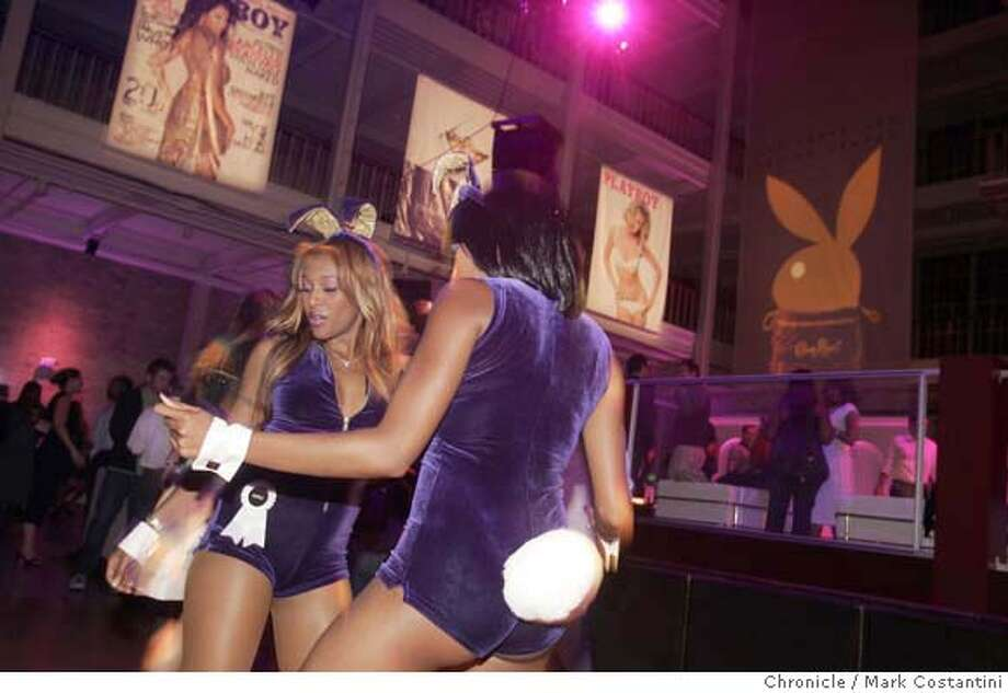 Playboy bunnies dance at party.  Crown Royal Playboy party hosted by Cleveland Indians pitcher C.C. Sabathia and Playboy cover girl Garcelle Beauvais-Nilson  PHOTO: Mark Costantini / The Chronicle MANDATORY CREDIT FOR PHOTOGRAPHER AND SAN FRANCISCO CHRONICLE/NO SALES-MAGS OUT Photo: MARK COSTANTINI