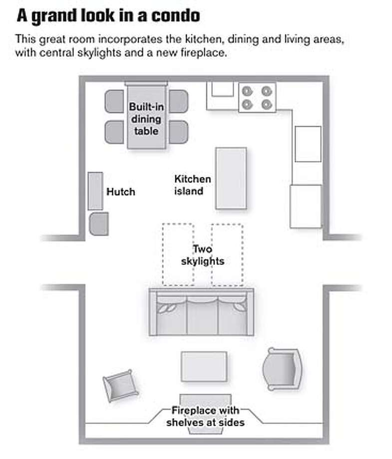 A Grand Look in a Condo. Chronicle Graphic