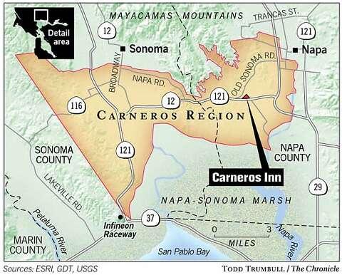 on carneros inn map