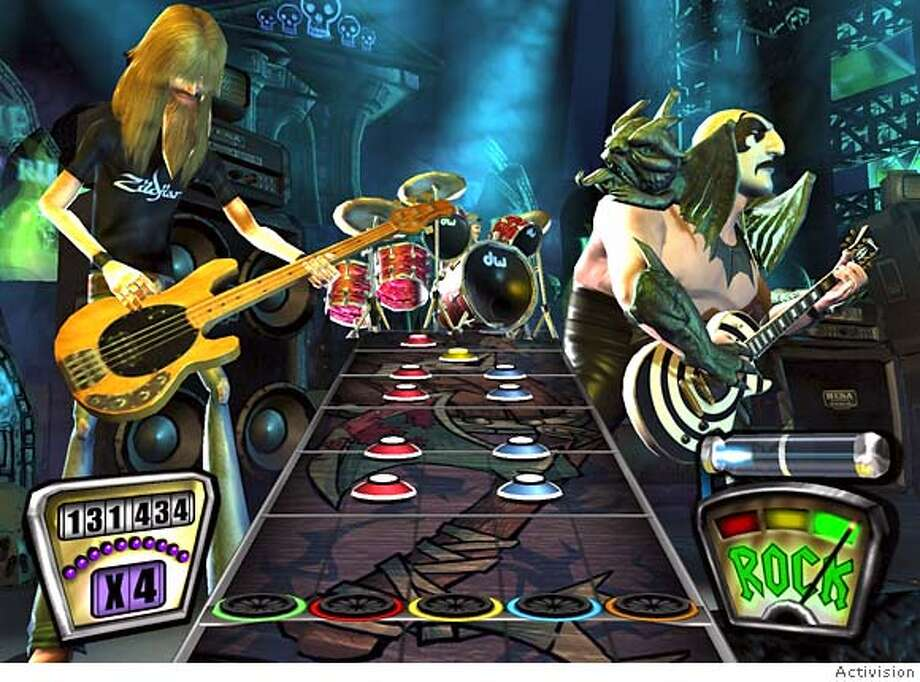 Screenshot from the Xbox 360 version of Guitar Hero II Photo: Activision