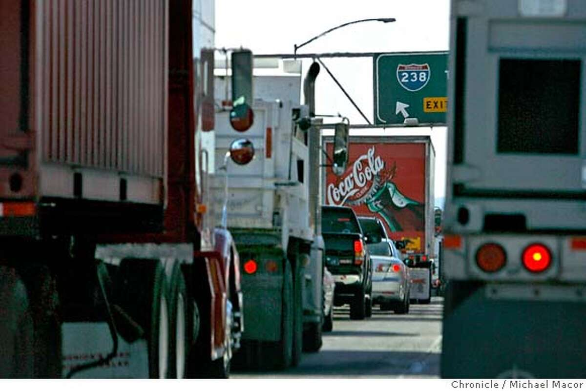 widening20_069_mac.jpg Bumper to bumper traffic well underway during an afternoon commute. Widening of I-238, one of the Bay Area's worst bottlenecks, starts Friday. The two lane road hasn't improved much since it was built in the 1950s. Event in, Castro Valley, Ca, on 10/18/06. Photo by: Michael Macor/ San Francisco Chronicle Mandatory credit for Photographer and San Francisco Chronicle No sales/ Magazines Out