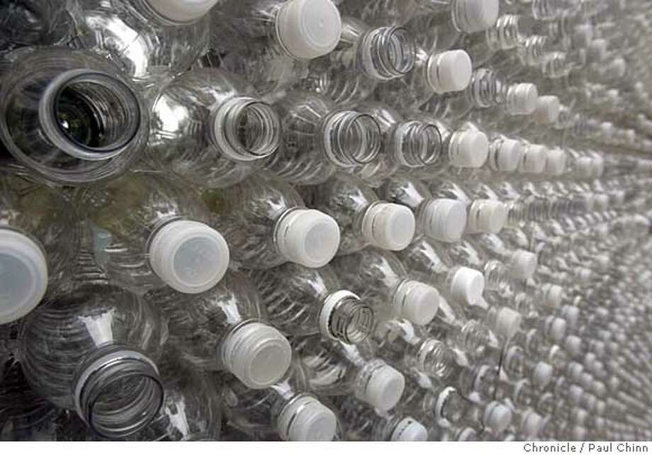 Under legislation proposed by Assemblyman Mark Stone, D-Scotts Valley, single-use plastic bottles in California would be required to have caps that remain affixed to their containers after being opened. Photo: PAUL CHINN