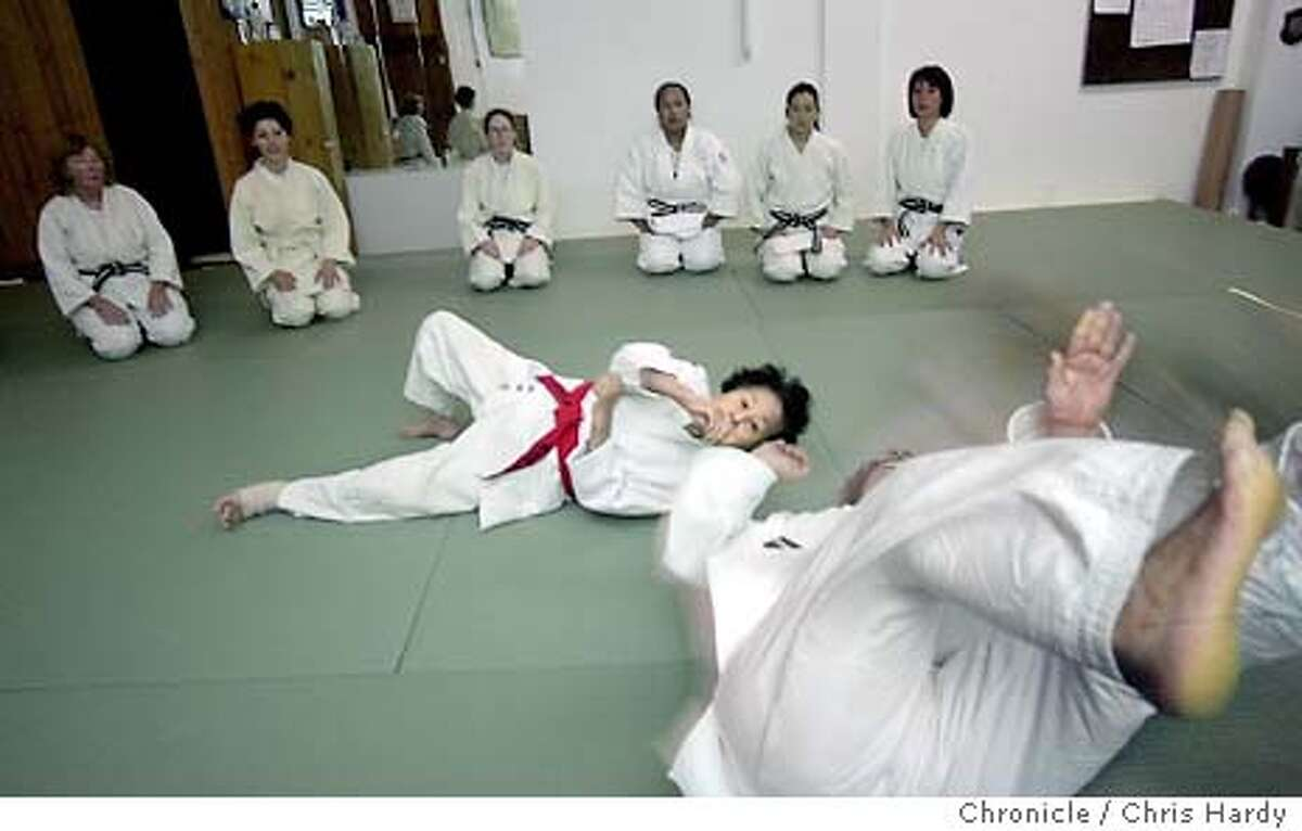 wbjudo078_ch.jpg Keiko Fukuda is the highest ranking female judo master in the world. And at 90 years old, she may also be the oldest. She teaches classes three times at week in San Francisco. Here Keiko demonstrates a throw on Vicki Trent. 10/2/03 in San Francisco. CHRIS HARDY / The Chronicle