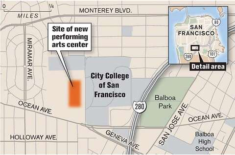 ARTS CENTER TO RISE AT CCSF / 3-building venue has 650-seat theater on