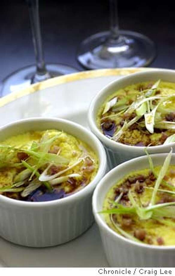 Wine recipe Steamed Eggs and Ham to pair with Sauvignon Blanc. Food photo styled by Noel Advincula.  Event on 10/10/03 in San Francisco.  CRAIG LEE / The Chronicle Photo: CRAIG LEE