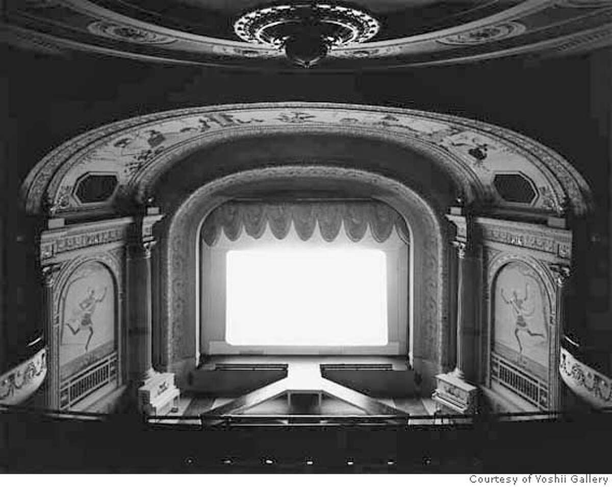 """06 Hiroshi Sugimoto """"Cabot Street Cinema, Massachusetts,""""1978 Gelatin silver print Edition 11/25 Private collection Courtesy of Yoshii Gallery, New York On view in Hiroshi Sugimoto de Young Museum, San Francisco 7 July�23 September 2007 Ran on: 07-07-2007 Hiroshi Sugimotos works at the de Young include Mathematical Form: Surface 0006 (2004), left; Cabot Street Cinema, Massachusetts (1978), above; and Chrysler Building (1997)."""
