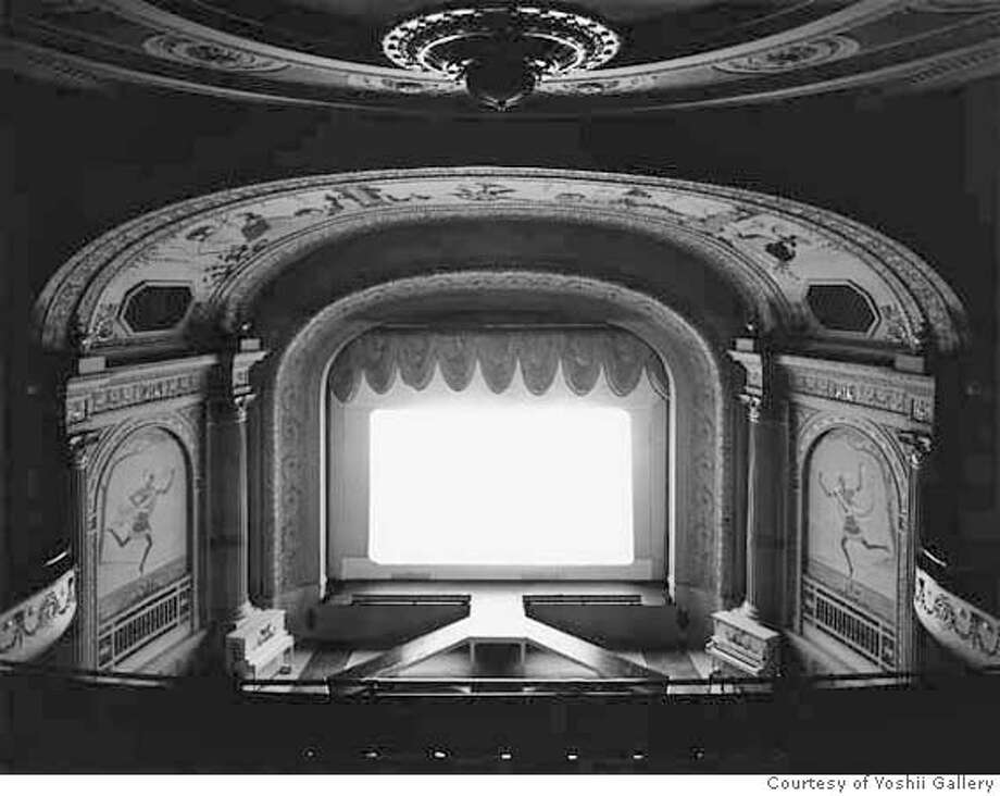 "06 Hiroshi Sugimoto ""Cabot Street Cinema, Massachusetts,""1978 Gelatin silver print Edition 11/25 Private collection Courtesy of Yoshii Gallery, New York On view in Hiroshi Sugimoto  de Young Museum, San Francisco  7 July�23 September 2007 Ran on: 07-07-2007  Hiroshi Sugimoto's works at the de Young include &quo;Mathematical Form: Surface 0006&quo; (2004), left; &quo;Cabot Street Cinema, Massachusetts&quo; (1978), above; and &quo;Chrysler Building&quo; (1997). Photo: -"