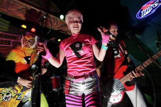 FOR METRO - Peelander-Z, from New York, NY, performs at Treasure Island during South by Southwest Sunday March 18, 2012 in Austin, TX. Photo: EDWARD A. ORNELAS, EDWARD A. ORNELAS/SAN ANTONIO EXPRESS-NEWS / © SAN ANTONIO EXPRESS-NEWS (NFS)