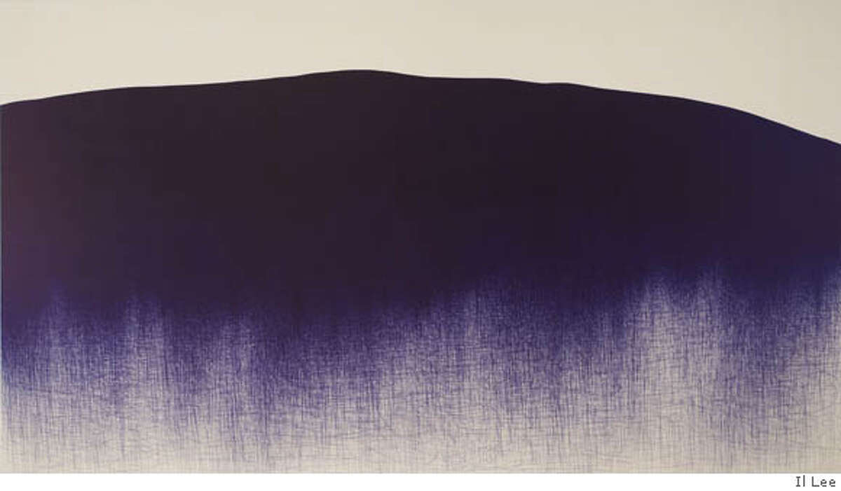 Il Lee, BL-060, 2005. Ballpoint pen on canvas, 84 x 144 inches. Private Collection, New York. Ran on: 07-07-2007 BL-060 (2005), by Il Lee, looks like a mountain landscape, a subject deeply rooted in the Asian arts. The work is part of an exhibition that ends Sunday at the San Jose Museum of Art.