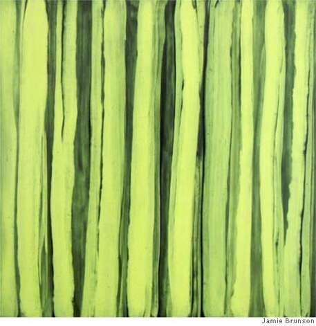 "Caption: ""Pillars"" (2006) acrylic and alkyd enamel on polyester on  canvas by Jamie Brunson Courtesy of Michael Rosenthal Contemporary Art, Redwood City Photo: Jamie Brunson"