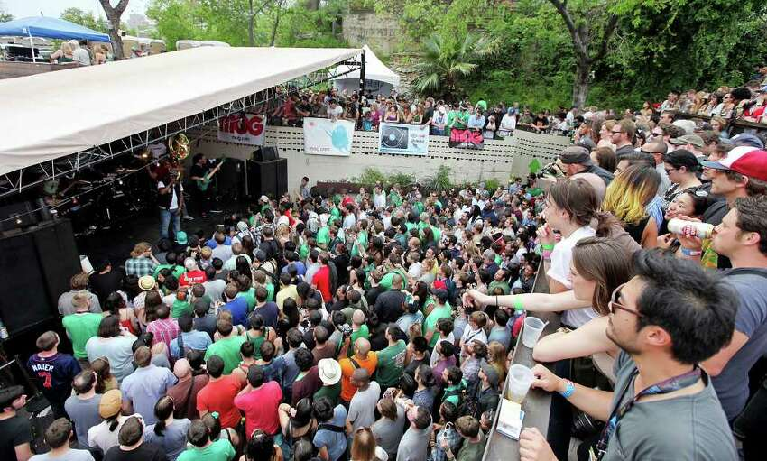 FOR METRO - Fans watch The Roots perform at the Mohawk during South by Southwest Saturday March 17, 2012 in Austin, TX.
